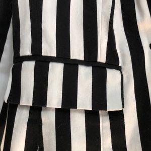 Forever 21 Jackets & Coats - Beetlejuice Style Black & White Pinstriped Jacket